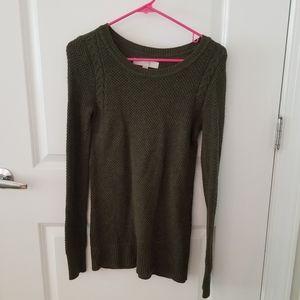 LOFT Army Green Sweater